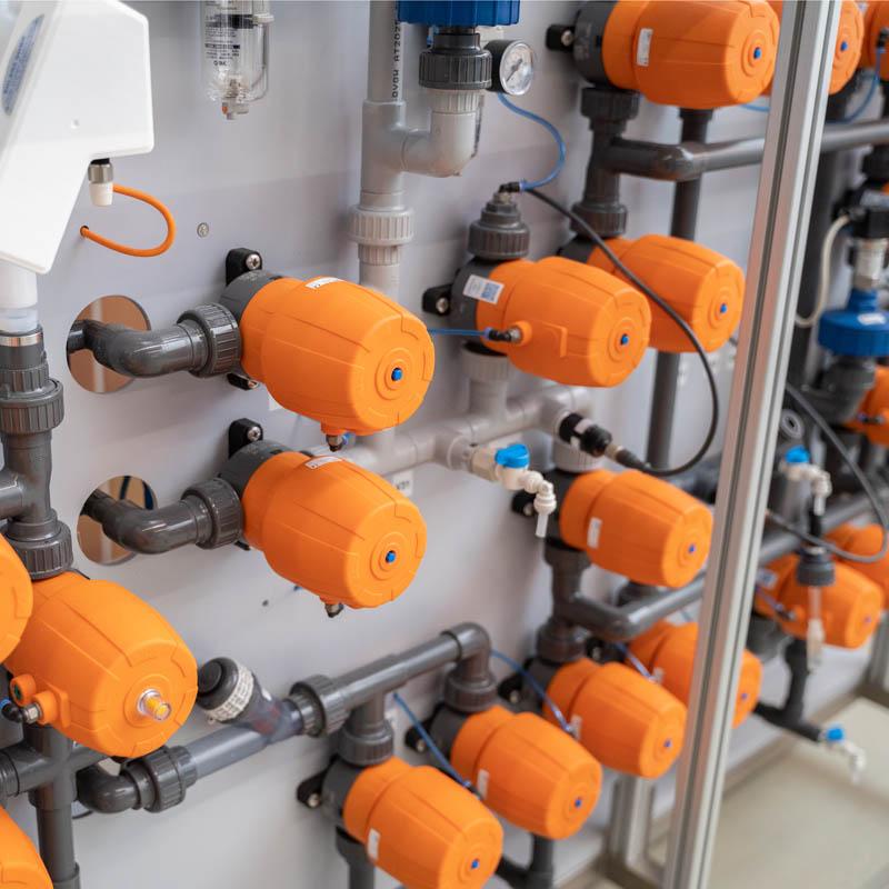 Lösungen für Sie Metalloberflächentechnik Ventile orange